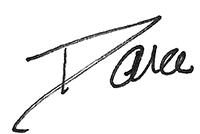 Dana's signature